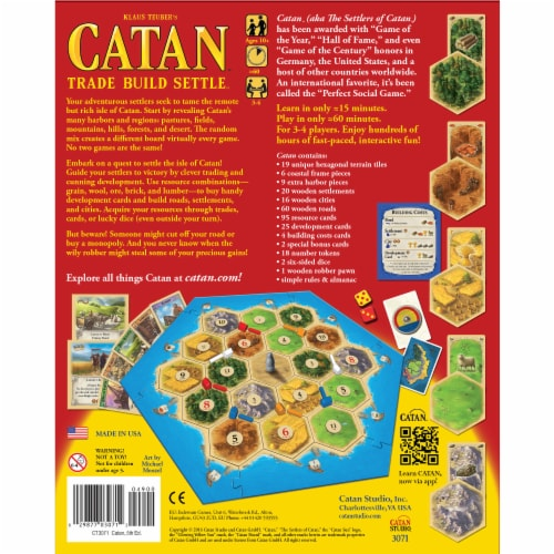 Catan Board Game Perspective: back