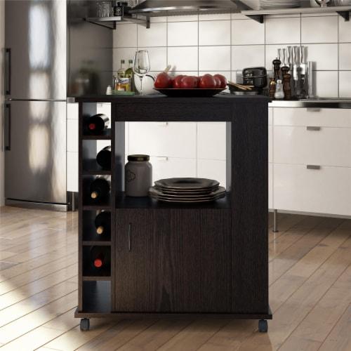 Williams Kitchen Cart, Espresso Perspective: back