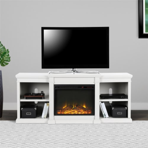 Manchester Electric Fireplace TV Stand for TVs up to 70 , White Perspective: back