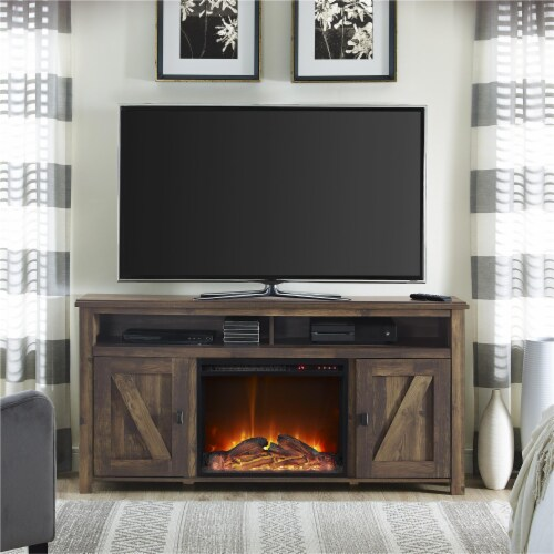 Farmington Electric Fireplace TV Console for TVs up to 60 , Rustic Perspective: back