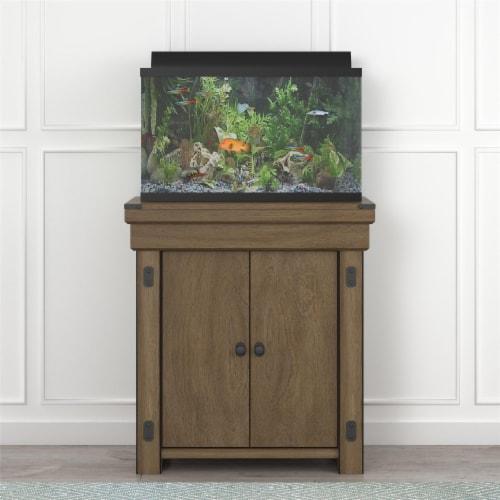 Wildwood 20 Gallon Aquarium Stand, Rustic Gray Perspective: back