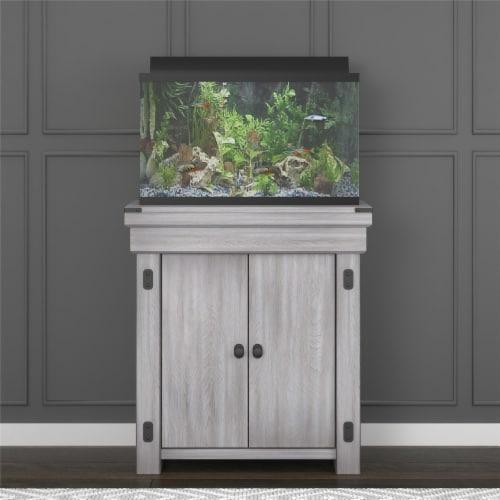 Wildwood 20 Gallon Aquarium Stand, Rustic White Perspective: back