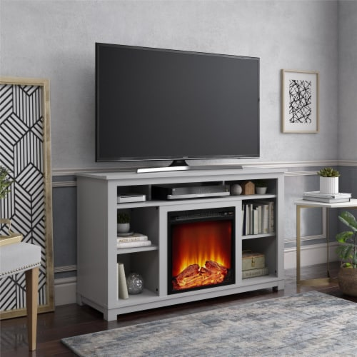 Ameriwood Home 18  x 18  Mesh Front Electric Fireplace Insert, Black Perspective: back