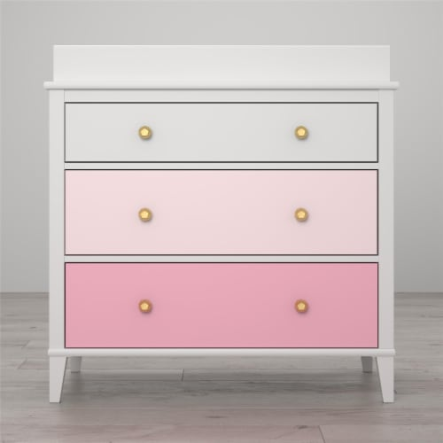 Monarch Hill Poppy 3 Drawer Changing Table, Pink Perspective: back