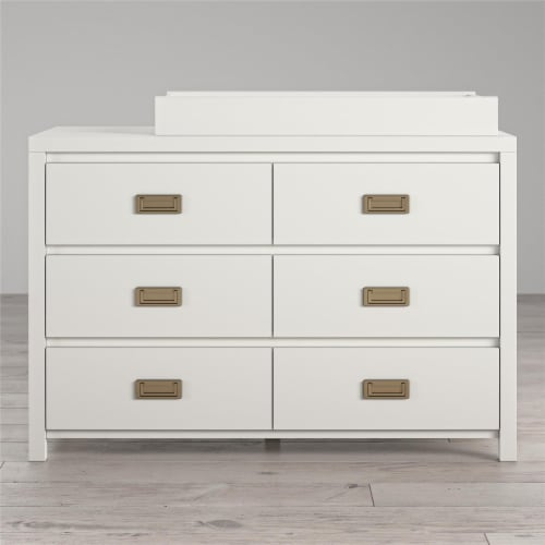 Monarch Hill Haven 6 Drawer White Changing Dresser Perspective: back