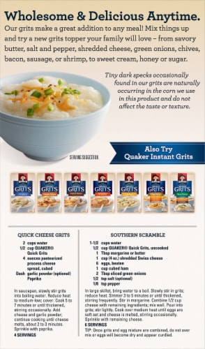 Quaker Quick 5-Minute Instant Grits Perspective: back