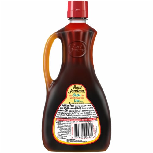 Aunt Jemima Butter Flavored Lite Syrup Perspective: back