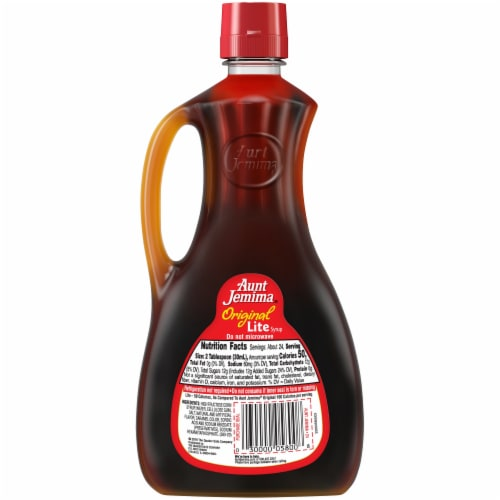 Aunt Jemima Original Pancake and Waffle Breakfast Syrup Perspective: back