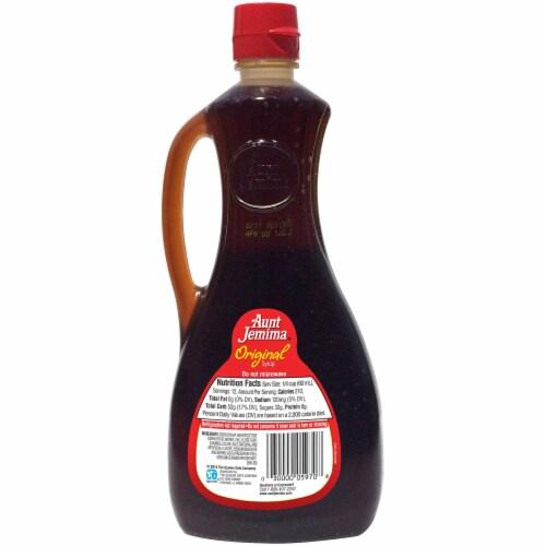 Aunt Jemima Original Syrup Perspective: back