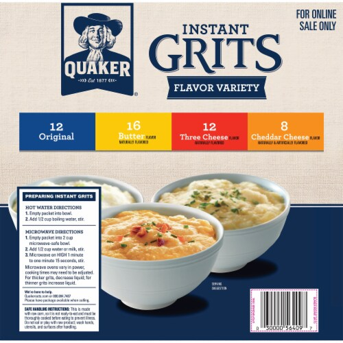 Quaker Instant Grits Variety Pack Perspective: back