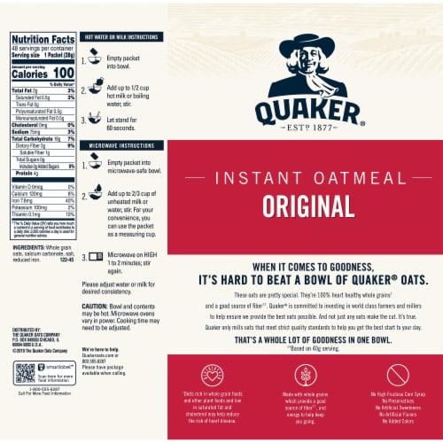 Quaker® Original Instant Oatmeal Perspective: back