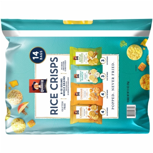 Quaker Rice Crisps Variety Pack Gluten Free Snacks Perspective: back
