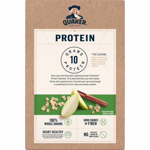 Quaker Protein Apples & Cinnamon Instant Oatmeal Perspective: back
