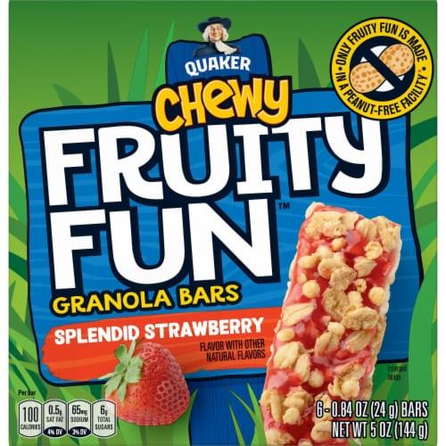 Quaker Chewy Fruity Fun Splendid Strawberry Granola Bars Perspective: back