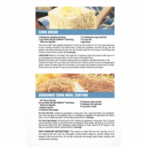 Pearl Milling Company™ Self-Rising White Corn Meal Mix Perspective: back