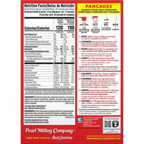Pearl Milling Company Original Pancake & Waffle Mix Perspective: back