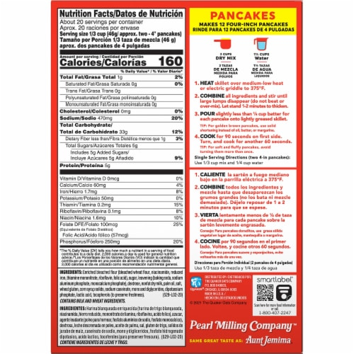 Pearl Milling Company Complete Original Pancake & Waffle Mix Perspective: back