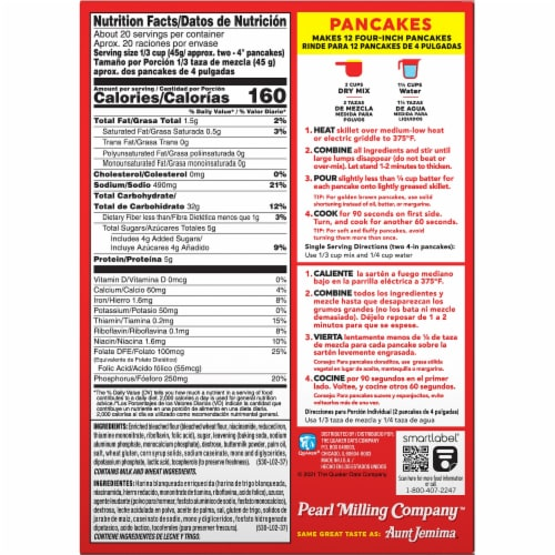 Pearl Milling Company Complete Buttermilk Pancake & Waffle Mix Perspective: back