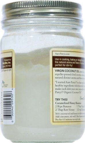 Aunt Pattys Extra Virgin Coconut Oil Perspective: back