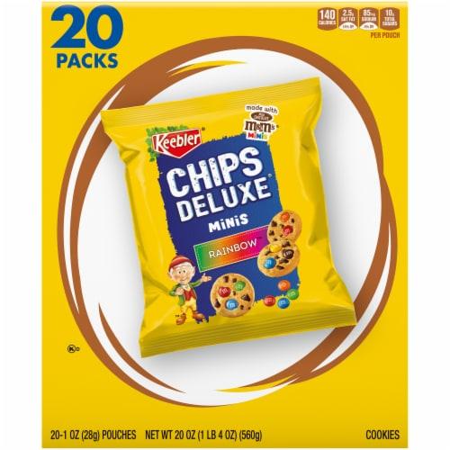 Keebler Chips Deluxe Rainbow Minis Cookies Perspective: back