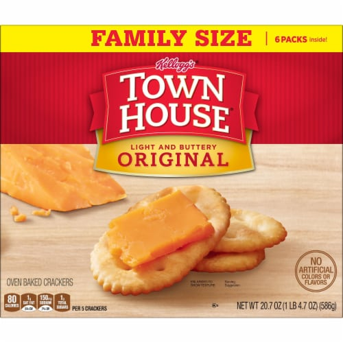 Town House Crackers Original Family Size Perspective: back