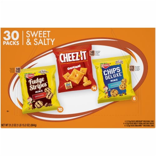 Keebler® Cookies and Cheeze-Itz® Baked Snack Crackers Sweet & Salty Snack Variety Pack Perspective: back