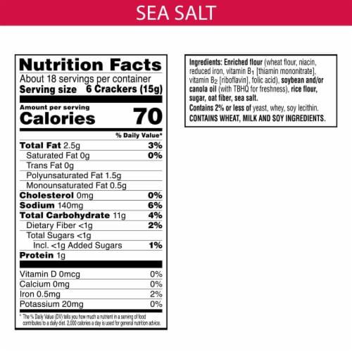 Town House Pita Crackers Sea Salt Perspective: back