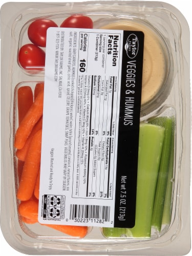 Taylor Farms® Veggies & Hummus Snack Tray Perspective: back