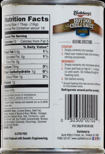 Castleberry's Original Hot Dog Chili Sauce Perspective: back