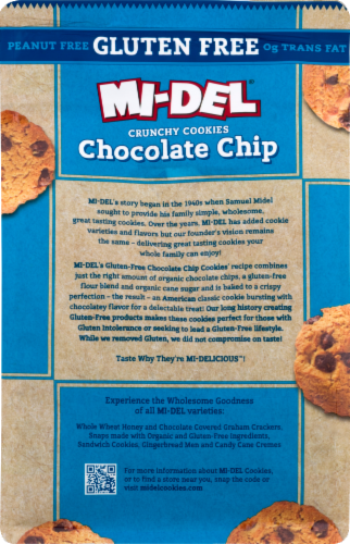 Mi-Del Gluten-Free Chocolate Chip Cookies Perspective: back