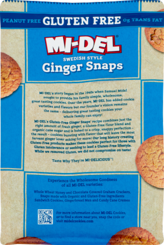 Mi-Del Gluten-Free Ginger Snaps Perspective: back