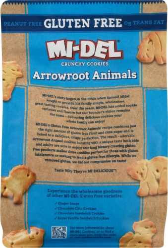 Mi-Del Gluten-Free Arrowroot Animal Cookies Perspective: back