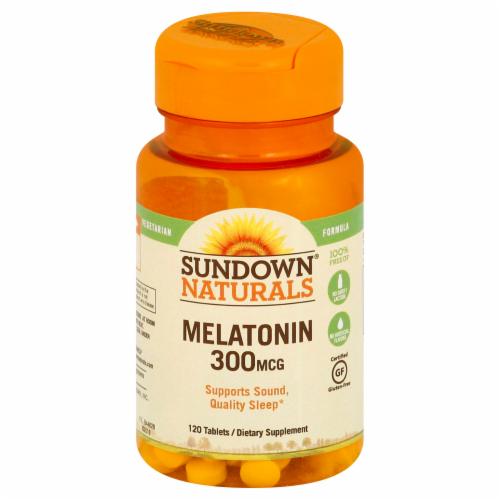 Sundown Naturals Melatonin 300 mcg Tablets Perspective: back