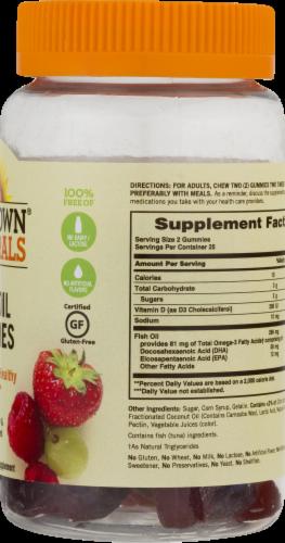 Sundown Naturals Fish Oil + Omega-3 Grape Strawberry & Raspberry Flavored Gummies Perspective: back