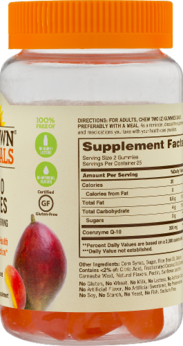 Sundown Naturals Co Q-10 Peach Mango Flavored Gummies Perspective: back