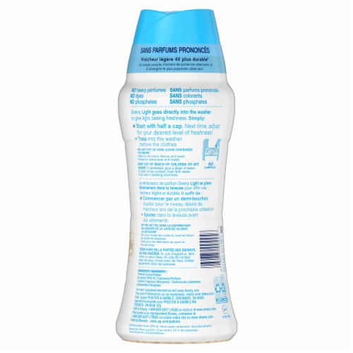 Downy Light Ocean Mist In-Wash Scent Booster Perspective: back