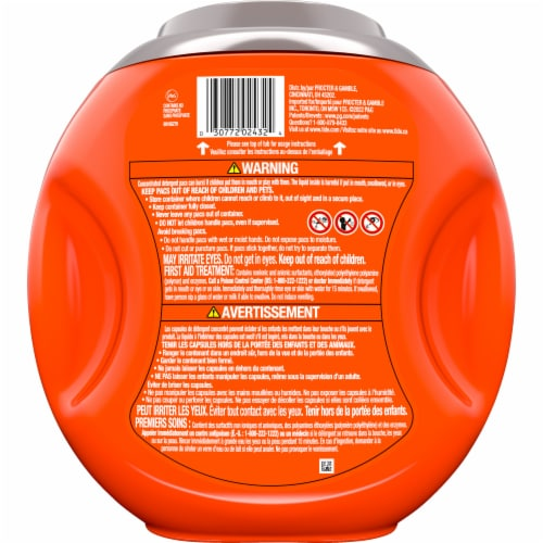 Tide® Hygienic Clean Power Pods™ Spring Meadow Laundry Detergent Pacs Perspective: back