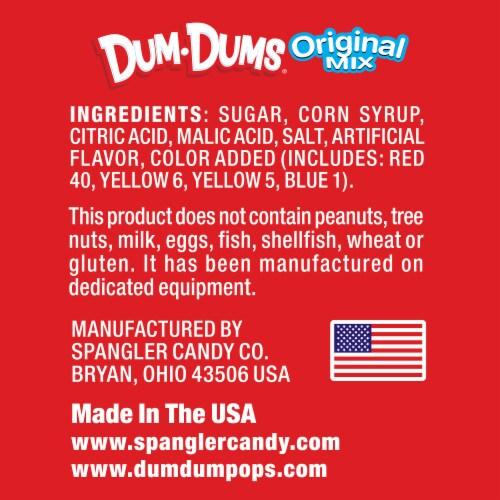 Dum Dums Original Assorted Flavor Lollipops Perspective: back