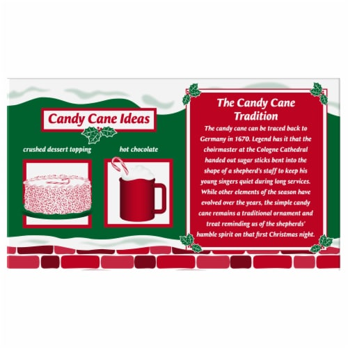 Spangler Mini Peppermint Candy Canes 40 Count Perspective: back