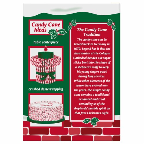 Spangler Natural Peppermint Candy Canes Perspective: back