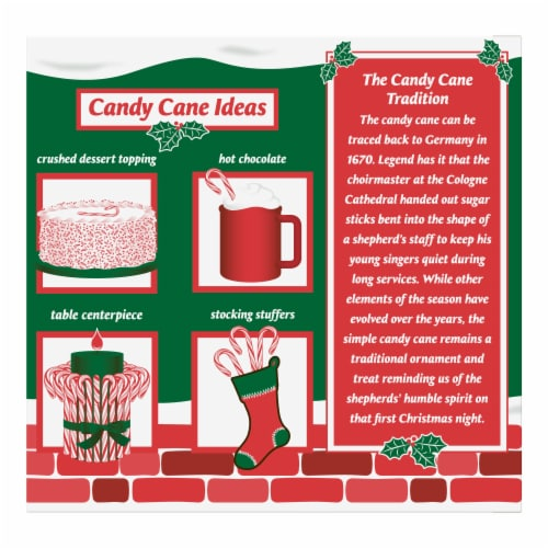 Spangler Peppermint Candy Canes 18 Count Perspective: back
