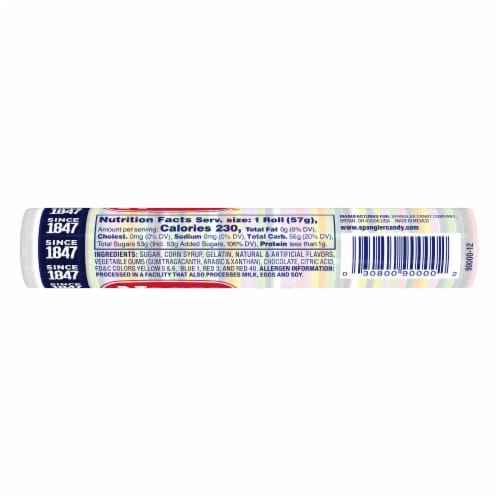 Necco Holiday Assorted® Wafer Candy Perspective: back