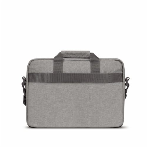 Solo Re:new Padded Briefcase - Gray Perspective: back