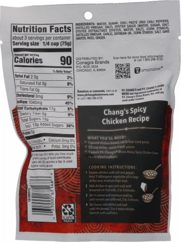 P.F. Chang's® Spicy Chicken Sauce Perspective: back