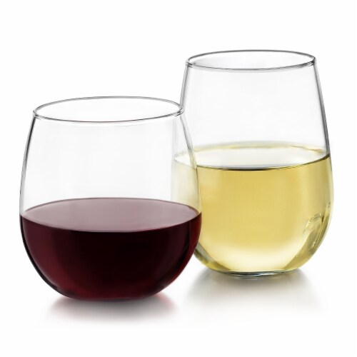 Libbey Stemless Wine Glass Party Set Perspective: back