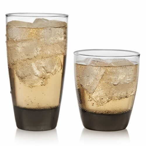 Libbey Classic Mocha Tumbler and Rocks Glass Set Perspective: back