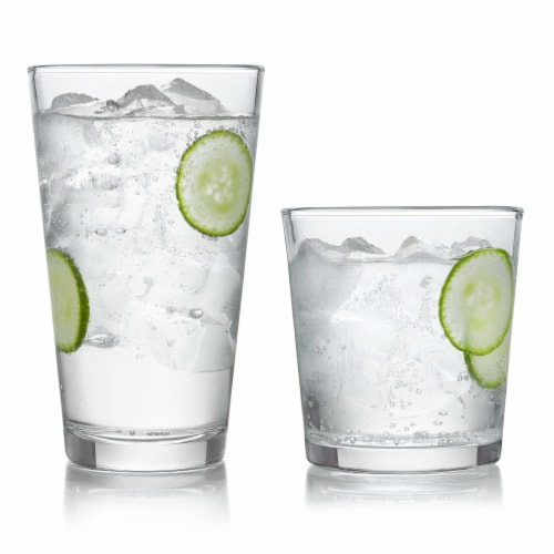 Libbey Preston Tumbler and Rocks Glass Set Perspective: back