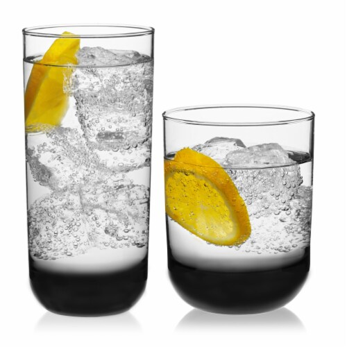 Libbey Polaris Tumbler and Rocks Glass Set Perspective: back