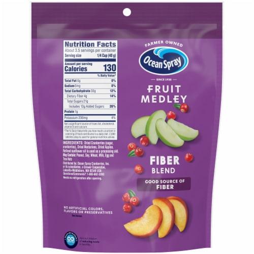 Ocean Spray Fruit Medley Fiber Blend Cranberry Dried Fruit Blend Perspective: back