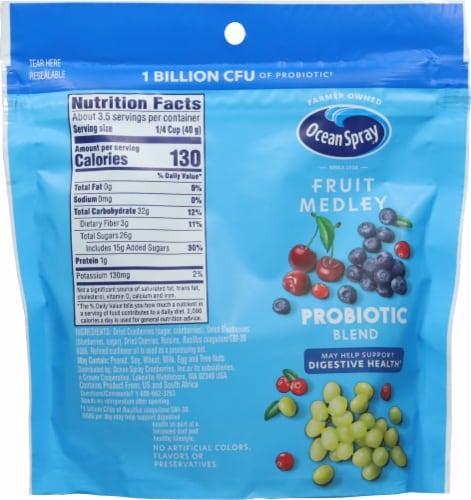 Ocean Spray Fruit Medley Probiotic Blend Cranberry Dried Fruit Blend Perspective: back